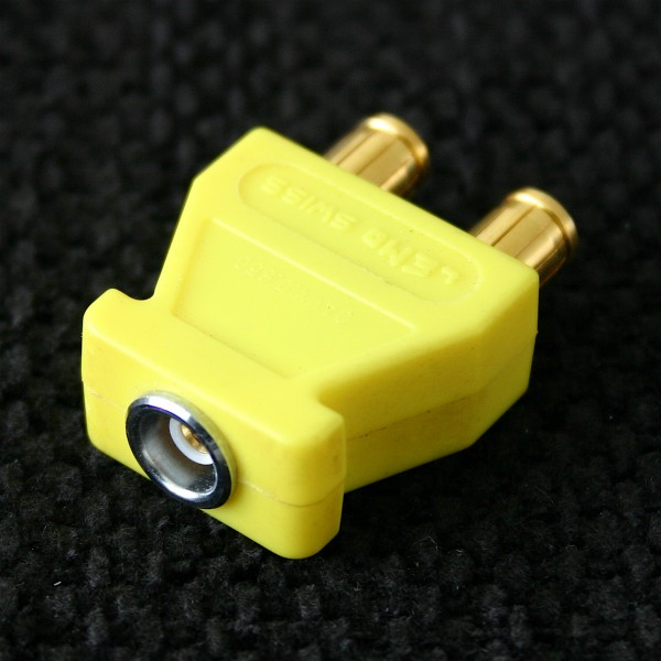 Lemo Triax Connector, used, yellow