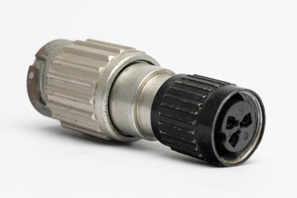 Adapter Amphenol Tuchel 3pol Kabelbuchse T3080-002 auf 8 Pol Stecker T3050-010 gebraucht