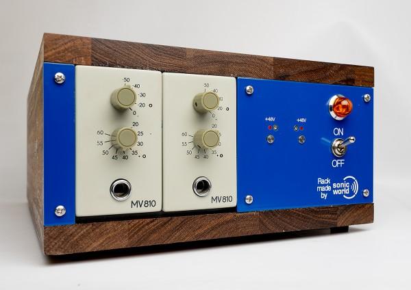 SonicWorld custom wooden rack for 2 x RFT MV810