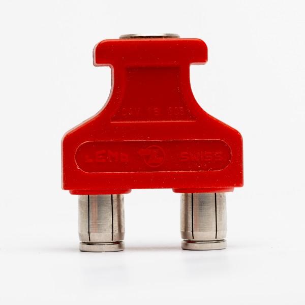 Lemo RG 1.B 6-pole connector, red, USED