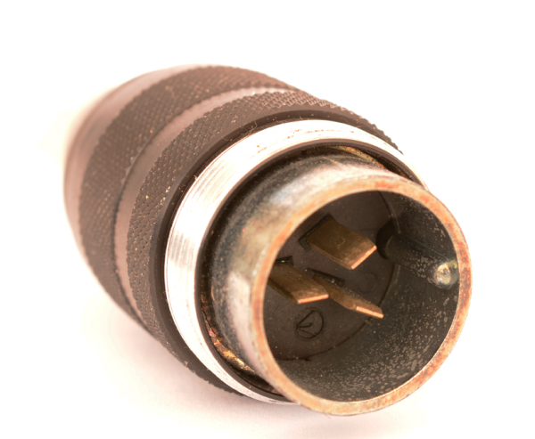 Binder 3pole Male Connector, compatible with Amphenol Tuchel T3079 002 USED