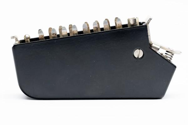 Siemens/ Tyco oder Amphenol Tuchel DIN 41622 16pol Messerleiste mit Metallhaube und Kodierstifte NEU