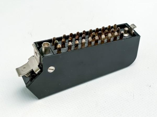 Siemens/ Tyco oder Amphenol Tuchel DIN 41622, versilberte 30 polige Messerleiste mit Metallhaube